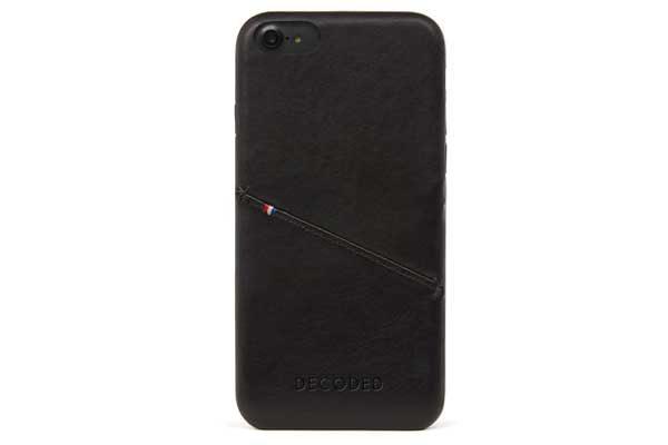 Decoded Premium Leder Backcover für iPhone 6,6s7,8, schwarz 1