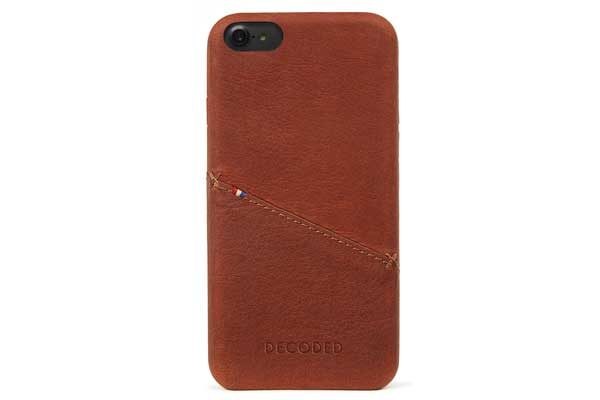 Decoded Premium Leder Backcover für iPhone 6,6s,7,8, dunkelbraun 1