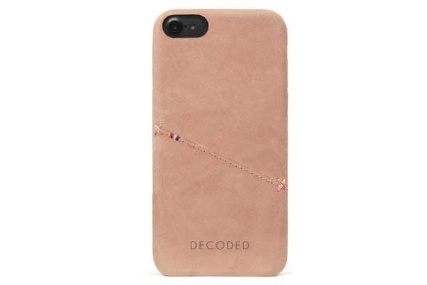 Decoded Premium Leder Backcover für iPhone 6,6s,7,8, rose gold 1