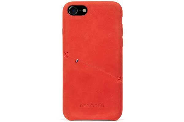 Decoded Premium Leder Backcover für iPhone 6,6s,7,8 rot 1