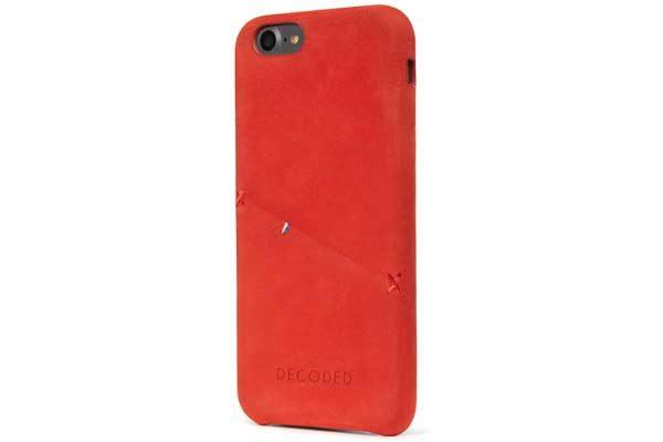 Decoded Premium Leder Backcover für iPhone 7, rot