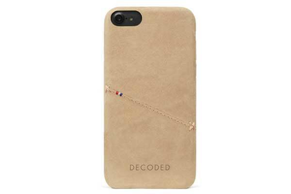 Decoded Premium Leder Backcover für iPhone 6,6s7,8, hellbraun 1