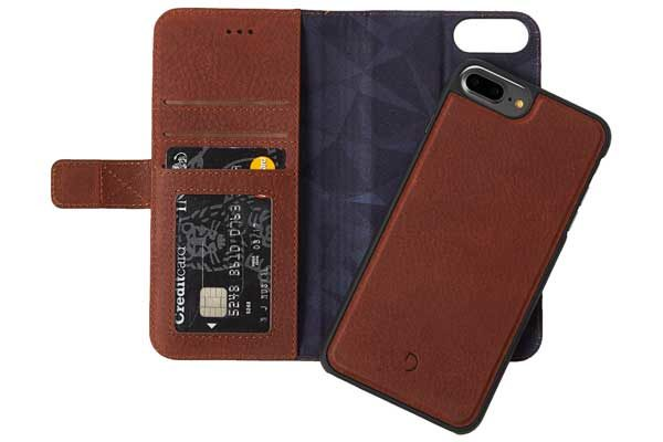 Decoded Premium Leder Wallet mit separatem Backcover für iPhone 6,6s,7,8 Plus, braun 1