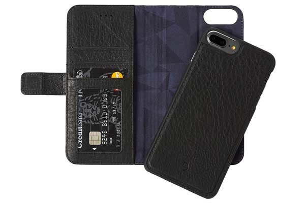 Decoded Premium Leder Wallet mit separatem Backcover für iPhone 6,6s,7,8 Plus, schwarz 1