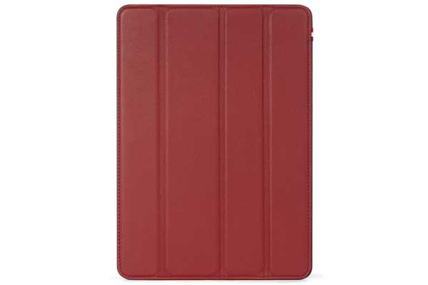 Decoded Slim Cover - Elegantes Folio Case aus Premium Leder mit Standfunktion für iPad Air und Pro 9.7, rot