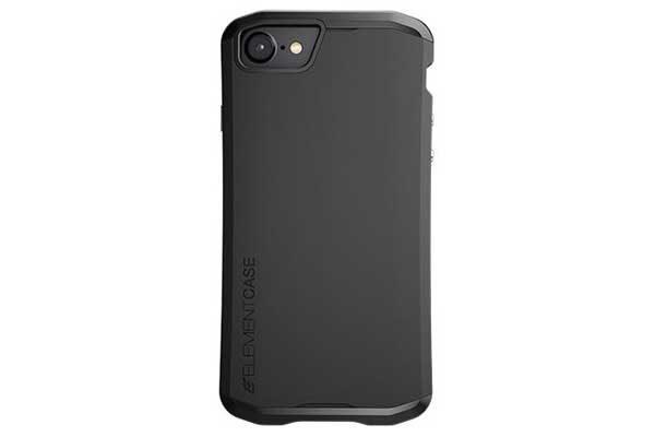 ElementCase Aura - Wunderschönes iPhone 7 Case mit mattem Überzug, schwarz