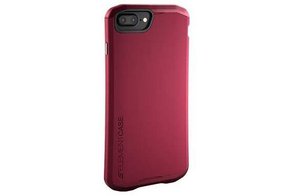 ElementCase Aura - Wunderschönes iPhone 7 Plus Case mit mattem Überzug, rot
