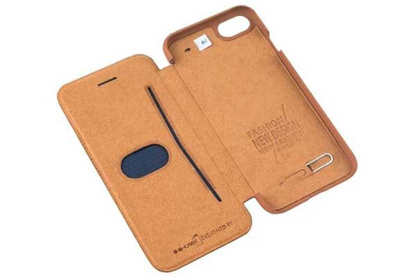 G-Case iPhone 7 Flip-Leder-Etui, weiss