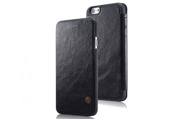 G-Case iPhone 7 Flip-Leder-Etui, schwarz