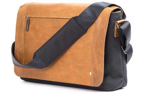 """Golla Niles - Moderne Umhänge Tasche für Ihr Macbook/Notebook bis zu 13"""" , Cognac - braun"""