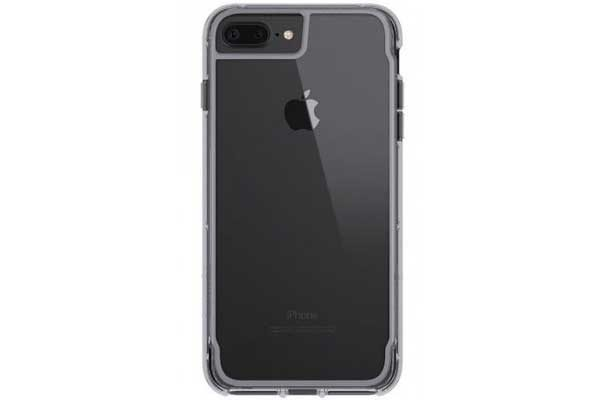 Griffin Survivor Clear Backcover für das iPhone 6 Plus/6S Plus/7 Plus, grau-silber