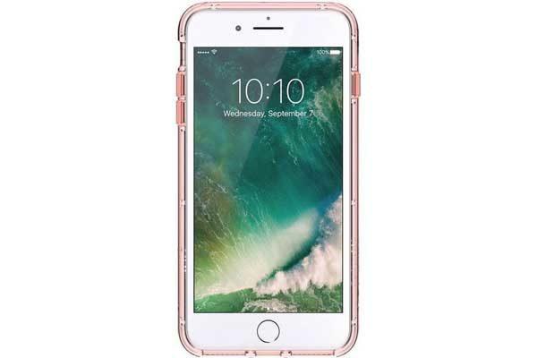 Griffin Survivor Clear Backcover für das iPhone 6 Plus/6S Plus/7 Plus, rosa-klar