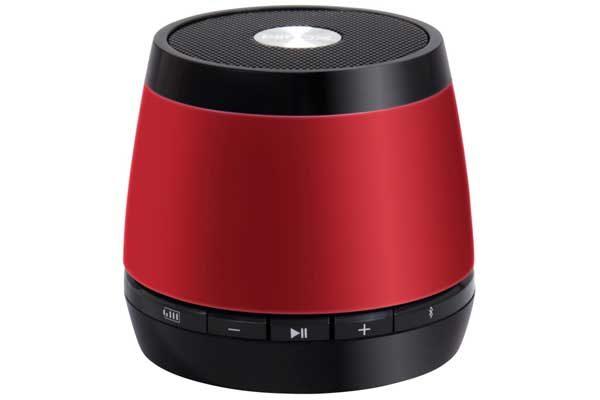 HMDX JAM Classic universeller & portabler Bluetooth Mini-Lautsprecher mit Akku für alle bluetooth-fähigen Geräte, rot