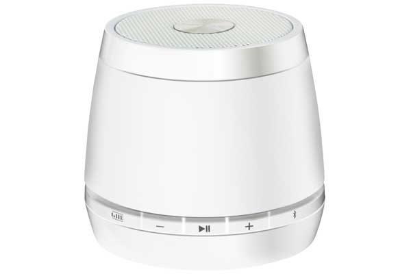 HMDX JAM Classic universeller & portabler Bluetooth Mini-Lautsprecher mit Akku für alle bluetooth-fähigen Geräte, weiss