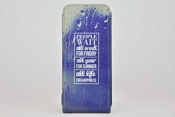 iPhone 5/5S/SE Flip-Case - People Wait