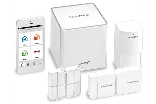iSmartAlarm Home Security System Preferred Pack - 1x Cube, 1x Motion Sensor, 2x Contact Sensor, 2x Remote Tag, weiss