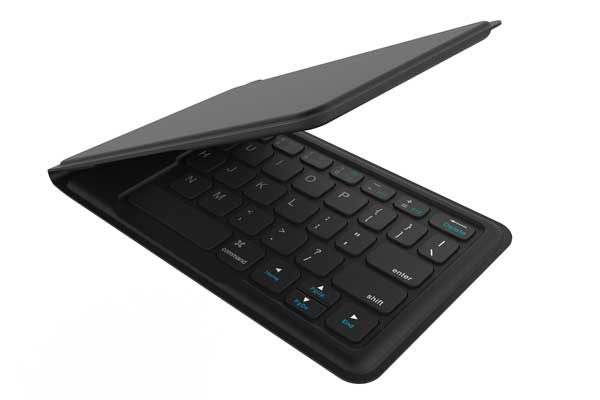 Kanex Multi-Sync Foldable Keyboard mit LED - Mobiles, faltbares und dünnes BT Keyboard mit CH Layout, schwarz