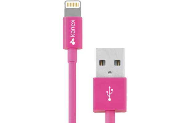 Kanex USB zu Lightning Connector Kabel 1.2m, pink