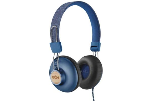 Marley Positive Vibration 2.0 On-Ear Kopfhörer mit 1-Button Remote/Microfon, Denim