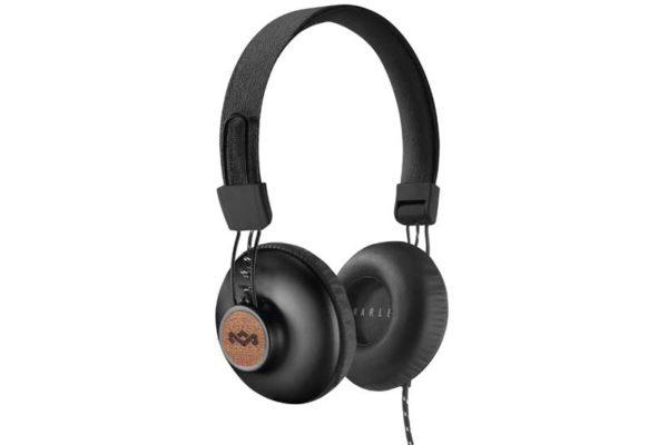 Marley Positive Vibration 2.0 On-Ear Kopfhörer mit 1-Button Remote/Microfon, Signature Black