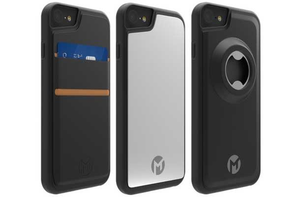 Mega Tiny Corporation MegaPack, Anti-Gravity Case für iPhone 6/6S/7 - Wunderhülle mit Nano-Saugkraft, schwarz