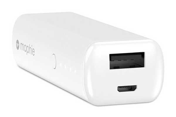 Mophie Power Boost - Externer Schnelllade-Akku mit 2600mAh für iPad, iPhone, iPod & Smartphones und Tablets, 1x USB Port, weiss