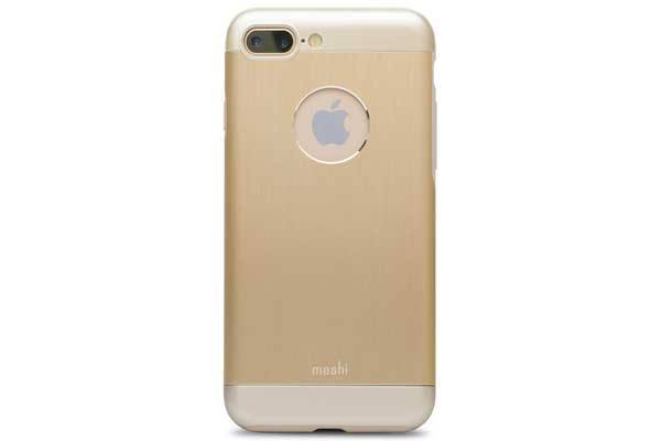 Moshi iGlaze Armour - Robustes Alu Hardcase für iPhone 7 Plus, satin gold