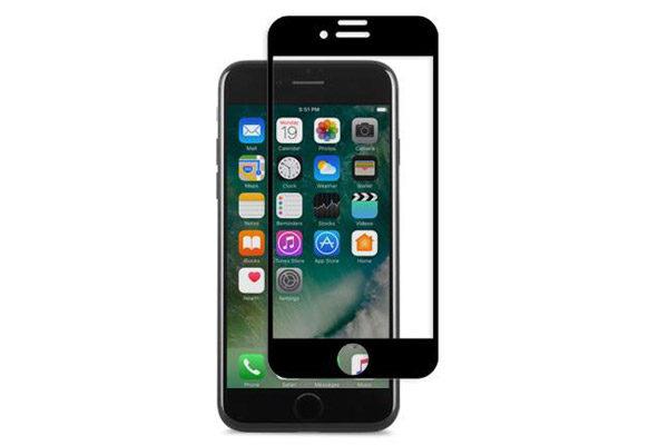Moshi IonGlass - Display-Schutzglas - Glass Screen Protector bis zum Rand für iPhone 7 Plus, schwarz