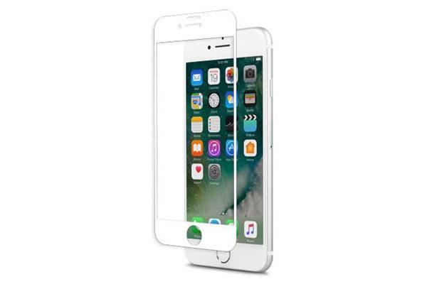 Moshi IonGlass - Display-Schutzglas - Glass Screen Protector bis zum Rand für iPhone 7, weiss