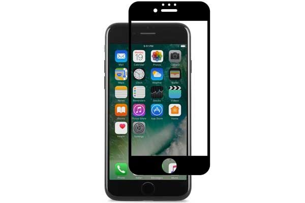 Moshi iVisor AG - Anti-Glare Screen Protector für iPhone 6/6S/7, Anti-Bubble & Washable, schwarz