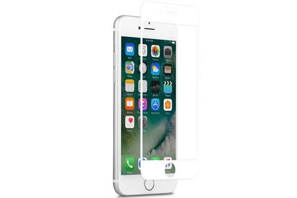 Moshi iVisor AG - Anti-Glare Screen Protector für iPhone 6/6S/7, Anti-Bubble & Washable, weiss