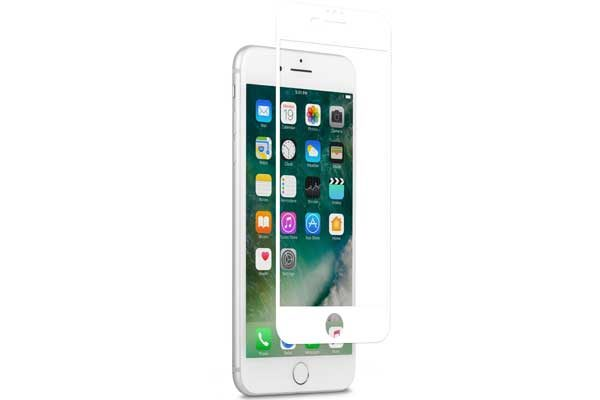 Moshi iVisor AG - Anti-Glare Screen Protector für iPhone 6 Plus/6S Plus/7 Plus, Anti-Bubble & Washable, weiss