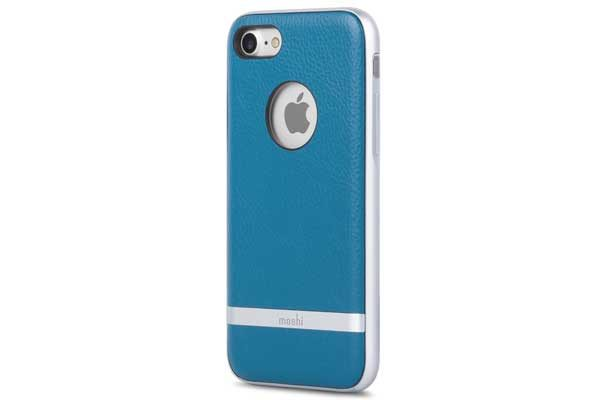 Moshi Napa - edles Leder Case für iPhone 7, marine blue