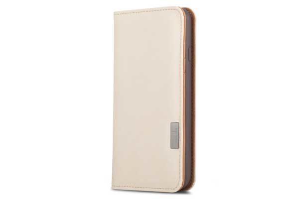 Moshi Overture - Elegantes Folio mit Kreditkartenfächer, Standfunktion und Reinigungskissen für iPhone 7, Sarah White