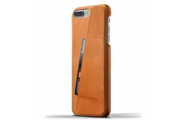 Mujjo Leder Wallet Case mit Kreditkartenfach für iPhone 7 Plus, braun