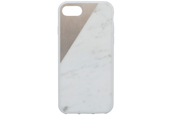 Native Union Clic Marble Hardcase für iPhone 7, Rosegold/Carrara Marble