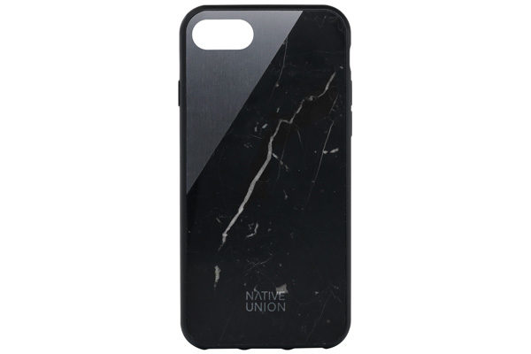 Native Union Clic Marble Hardcase für iPhone 7, Soft Touch Black/Marquina Marble