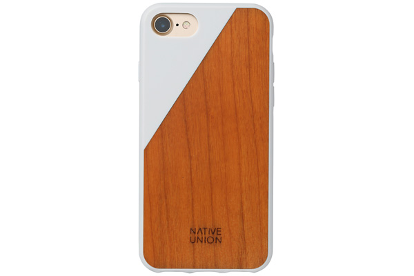 Native Union Clic Wooden V2 Hardcase für iPhone 7, Walnut Wood/Soft Touch White