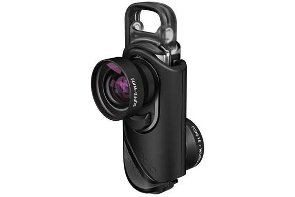 Olloclip Core Lens - Aufsteckobjektiv für iPhone 7 und 7 Plus, schwarze Linse/schwarzer Clip