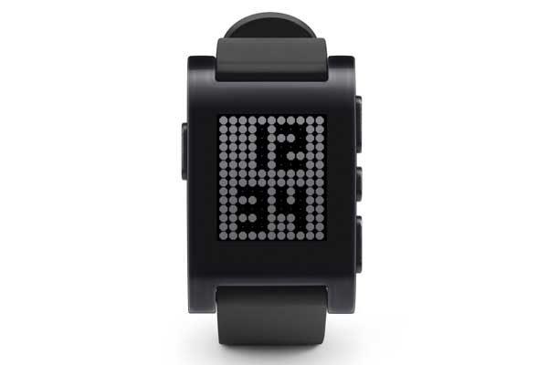 Pebble Original Smart Watch für iPhone und Android, schwarz - REFURBISHED