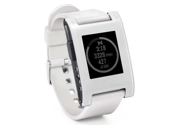 Pebble Original Smart Watch für iPhone und Android, weiss - REFURBISHED