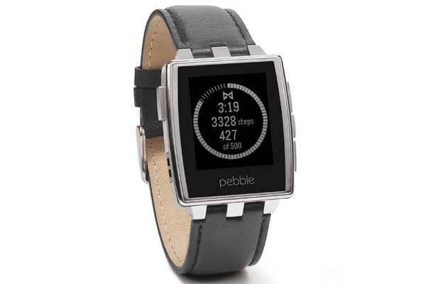 Pebble Steel Smart Watch für iPhone und Android, Brushed Stainless Steel - REFURBISHED