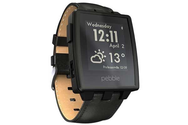 Pebble Steel Smart Watch für iPhone und Android, schwarz matt - REFURBISHED