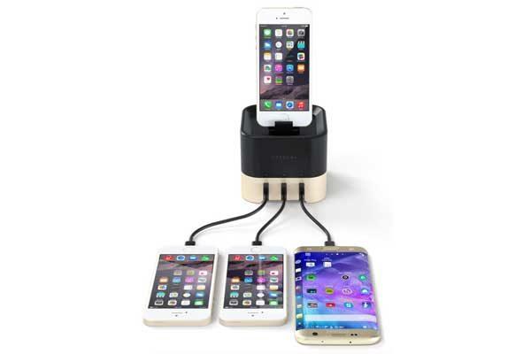 Satechi Smart Charging Stand - Eleganter Ladeständer für Apple Watch & Fitbit Blaze sowie Smartphones, gold