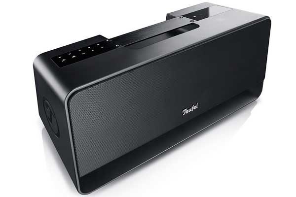 Teufel Boomster - Portables Stereo Bluetooth Radio mit integriertem Downfire-Subwoofer und NFC, schwarz