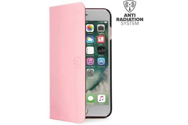 Tucano Filo - Elegantes Foliocase mit Stand- und Magnetfunktion mit Kreditkartenfach und Anti-Radiation System für iPhone 7 Plus, rosa