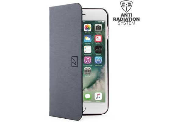 Tucano Filo - Elegantes Foliocase mit Stand- und Magnetfunktion mit Kreditkartenfach und Anti-Radiation System für iPhone 7 Plus, schwarz