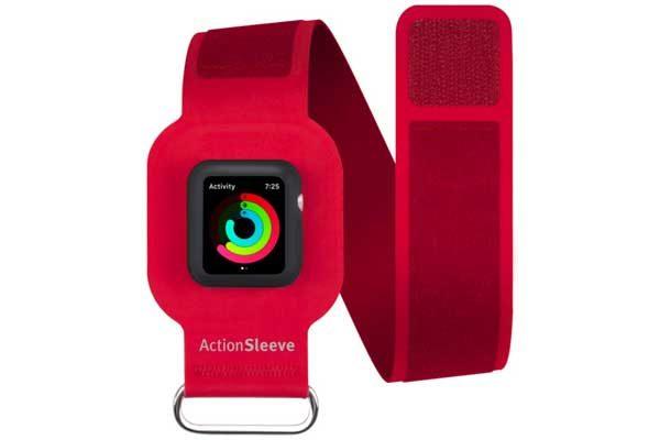 Twelve South ActionSleeve Neopren Armband für 38mm Apple Watch Series 1 & 2 für einen Armumfang zwischen 25-38cm, rot