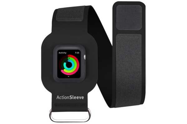 Twelve South ActionSleeve Neopren Armband für 38mm Apple Watch Series 1 & 2 für einen Armumfang zwischen 25-38cm, schwarz