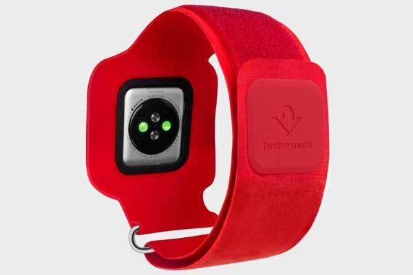 Twelve South ActionSleeve Neopren Armband für 42mm Apple Watch Series 1 & 2 für einen Armumfang zwischen 28 - 43cm, rot